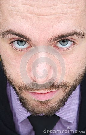 Portrait of a handsome man with beard and necktie