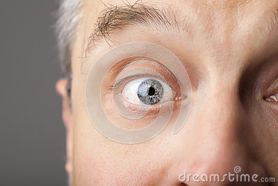 Portrait of a handsome man close up eye