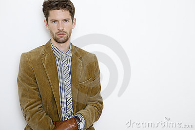 Portrait of handsome young man in jacket