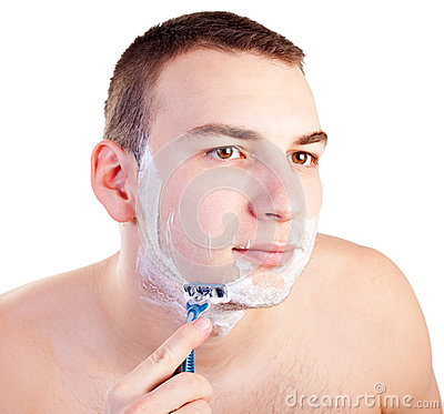 Portrait Of Handsome Shaving Man Royalty Free Stock Photography - Image: 29740977