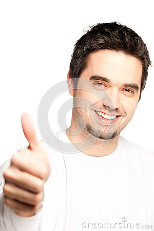 Portrait Of A Handsome Young Man, Thumbs Up