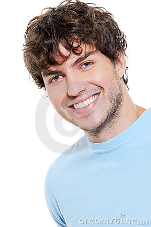 Portrait of happy cheerful handsome guy