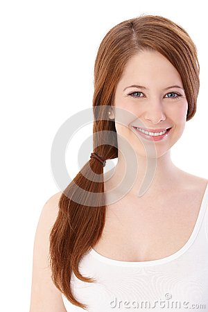 Portrait of happy ginger girl