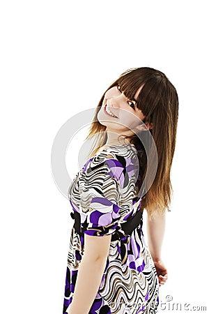 Portrait of happy girl teenager