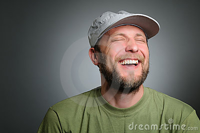 Portrait of a really happy man