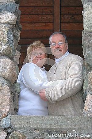 portrait happy married couple