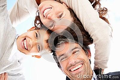 Portrait of happy parents with son