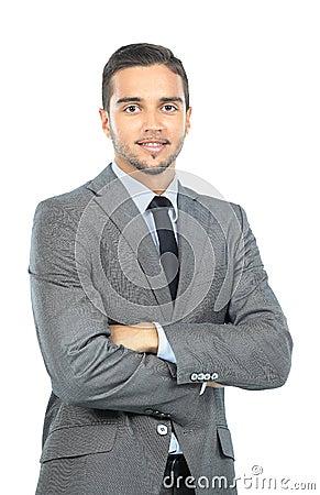 Portrait of happy smiling businessman