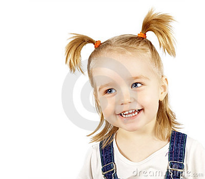 Portrait of the happy smiling child
