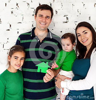 Portrait of a happy smiling family