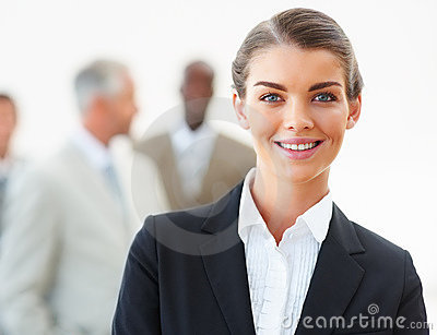Portrait of a happy successful business woman
