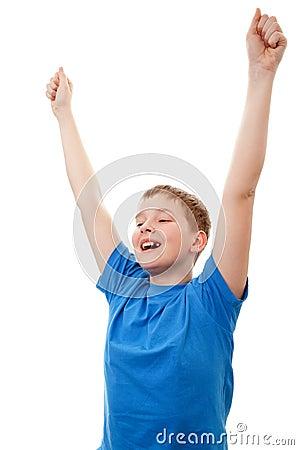 Portrait happy teenage boy