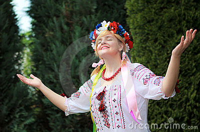 Portrait Happy Ukrainian woman