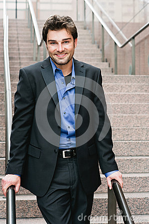 Portrait of a happy young businessman