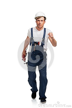 Portrait Of Happy Young Handyman With Tool Stock Photography - Image: 25846102