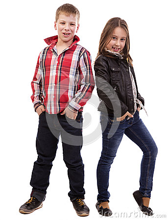Portrait of  happy young kids