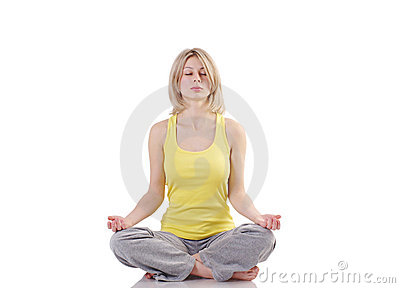 Portrait of healthy girl practicing yoga