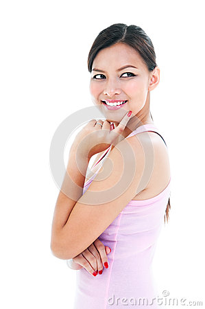 Healthy Young Woman Smiling