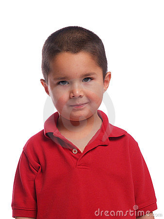 Portrait of a Hispanic boy