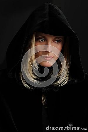 Portrait of Hooded Woman