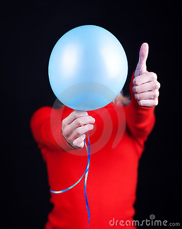 Portrait Of A Humans Body With Balloon Royalty Free Stock Photography - Image: 11020217