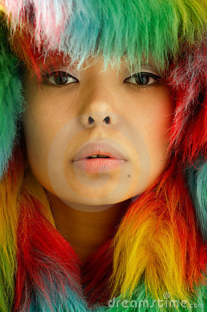 Free Portrait In Colored Fur Stock Photos - 1549483