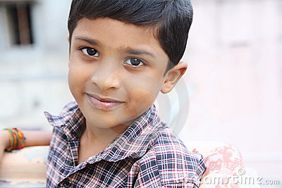 Portrait of Indian Cute Little Boy
