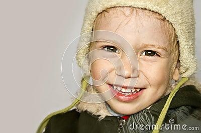 Portrait of infant smiling boy