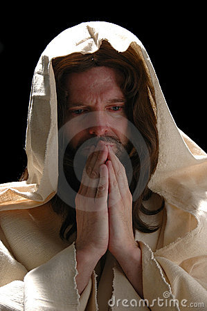 Portrait of Jesusin prayer