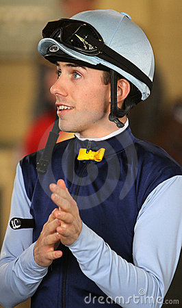 Portrait of Jockey Joe Talamo Editorial Stock Photo