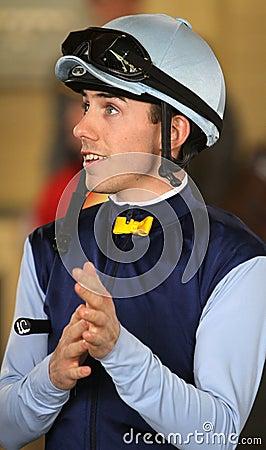 Portrait of Jockey Joe Talamo Editorial Stock Photo