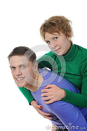 Portrait of a joyful young couple