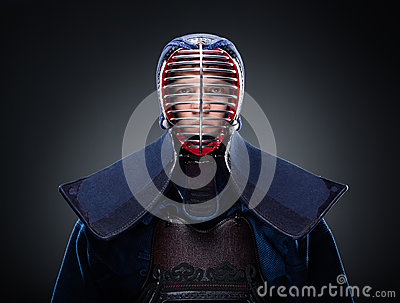 Portrait of kendo fighter