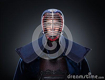 Portrait of kendo fighter