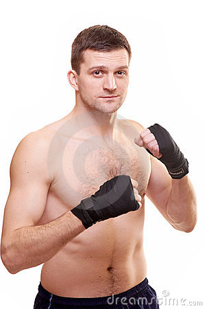 Portrait of a kick boxer