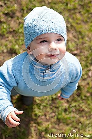 Portrait of a kid in blue