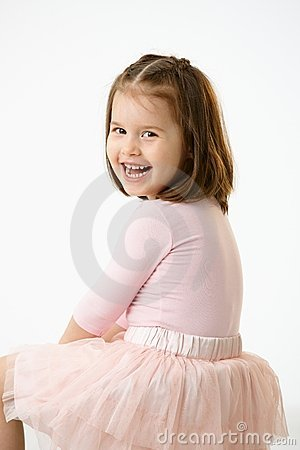 Portrait of laughing little girl
