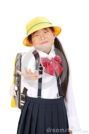 Portrait of Little asian schoolgirl