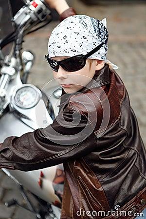 Portrait a little biker