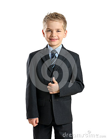 Portrait of little businessman