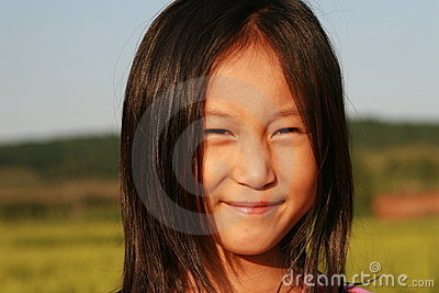 Portrait of little Chinese girl