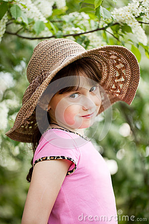 Portrait of little coquette