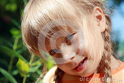 Portrait Of A  Little Girl Royalty Free Stock Photography - Image: 25336637