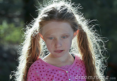 A Portrait of a Little Girl with Backlit Hair