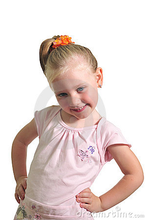 Portrait of the little smiling girl