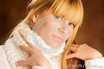 Portrait of lovely blond