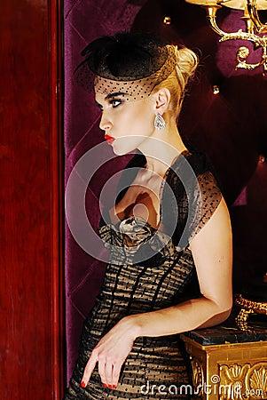 Portrait of a luxurious glamorous model