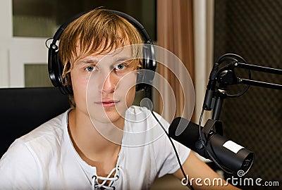 Portrait of male dj