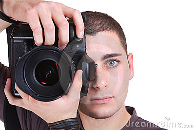 Portrait of male photographer