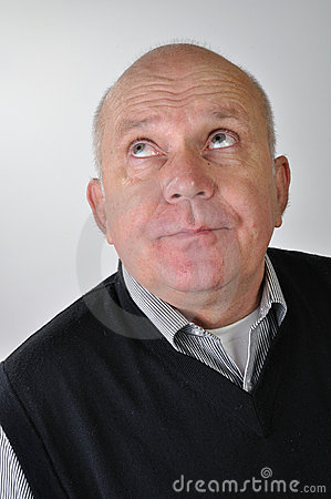 Portrait of  man with funny expression